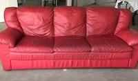 Red leather couch New Windsor, 12553