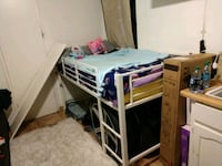 white and brown wooden bunk bed 2266 mi