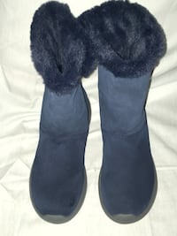 Skechers Blue Suede Boots Wm. Sz.8 Wilmington, 19801