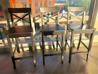 """Wooden barstools (3) at 36"""" height  Seattle, 98103"""