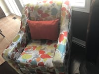 white and red floral padded armchair Brampton, L6R 0G9