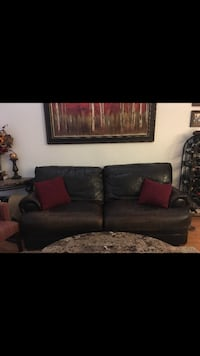 black leather 2-seat sofa Phoenix, 85020