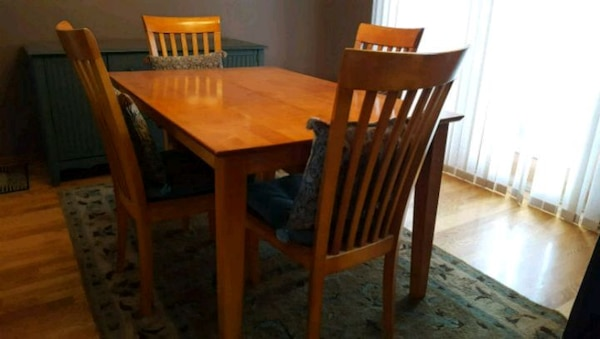 Remarkable Solid Hard Wood Dining Table With Six Chairs I Ibusinesslaw Wood Chair Design Ideas Ibusinesslaworg