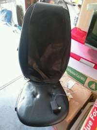 black leather chair massage seat