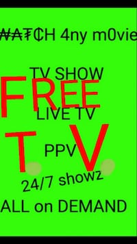 green background with free TV text overlay Covina, 91724