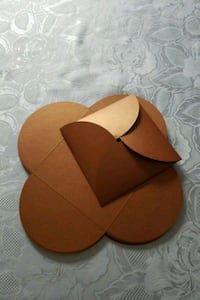 Bronze invitation pocket folds 21 pcs 785 km
