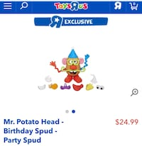 "Mr Potato head ""Birthday"" toy"