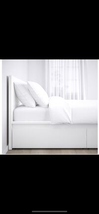 Queen size MALM ikea bed