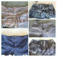 Size 12 womens shorts 5 pair Henderson, 89002
