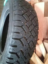 Set of 4. Goodyear Ultra Grip snow tires.