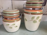Cream and green ceramic canisters El Paso, 79907
