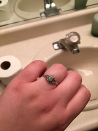 Silver-colored ring with aqua gemstone Graton, 95444