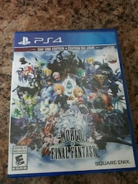 PS4 World of Final Fantasy case