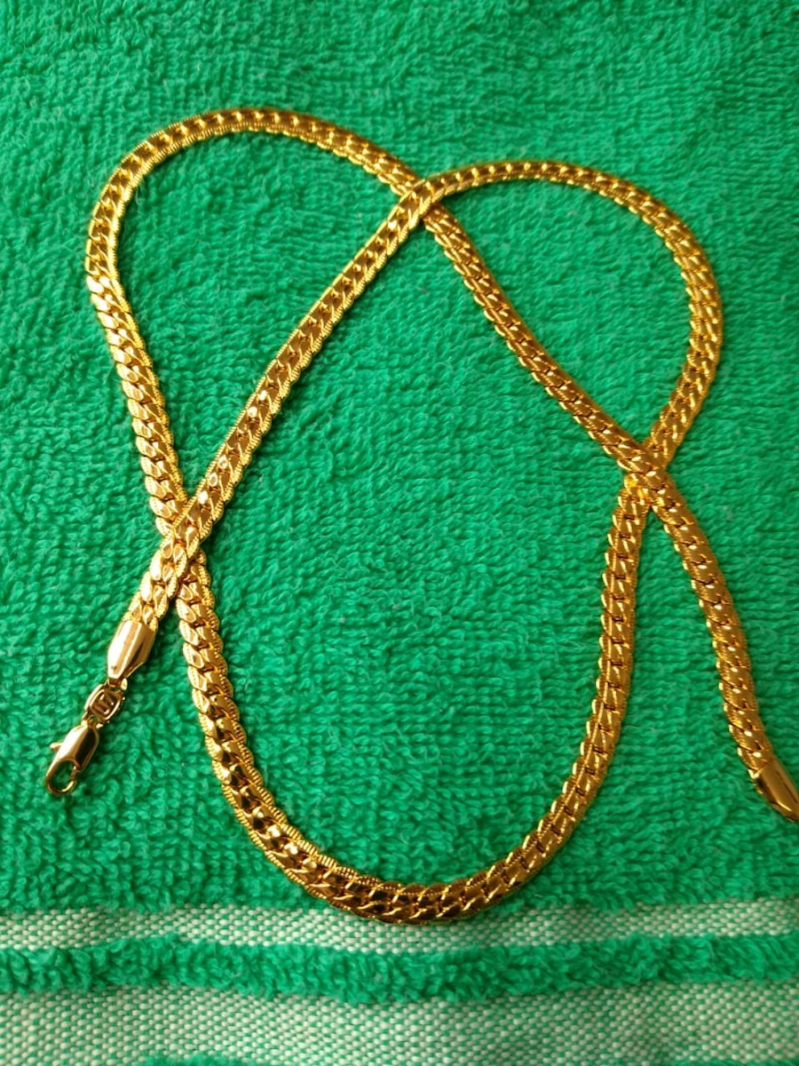 Photo U7-18k Real Gold Plated 26 ,6mm Snake Necklace.Real Nice Piece.