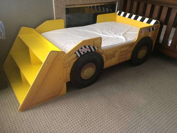 save off ace7e e42ee Tonka Truck Toddler Bed with Shelves with mattress