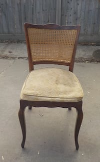 """""""PROJECT"""" FRENCH PROVINCIAL CANE BACK CHAIR - STURDY! EDMONTON"""