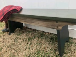 Refinished wooden bench