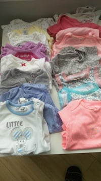 Body suits different sizes NB , 3 , 6,9 months Bathurst St at Steeles Ave, M2R 3W9