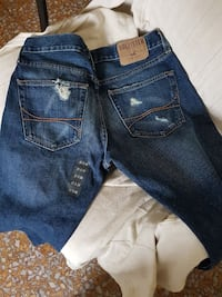 jeans denim blu Hollister