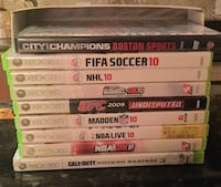 9 Xbox 360 Sport Games & Call Of Duty 3 Game Barrington, 03825