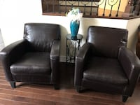 Selling each faux leather chair for 30.00 Bartlett