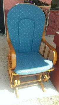 blue and brown wooden armchair Donna, 78537
