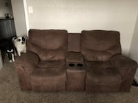 Brown love seat recliner couch  Waco, 76706