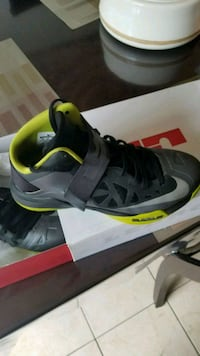 unpaired black and green Nike basketball shoe Baltimore, 21244