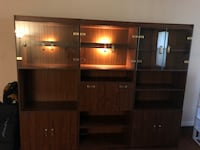 brown wooden cabinet with shelf Longwood, 32750
