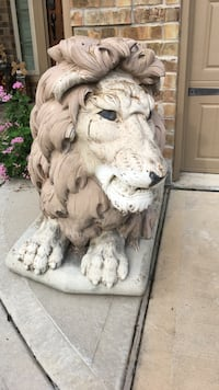 White Lion ceramic statue