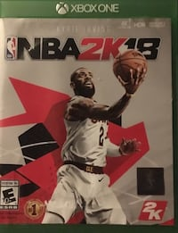 NBA 2K18 Xbox One game case 165 mi