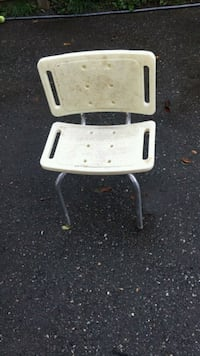 White and gray folding chair Surrey