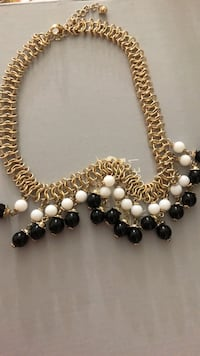 white and black beaded necklace Ashburn, 20148