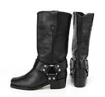 Womens petite youth girls Sz 5.5 Western Leather harness cowboy motorcycle Boots