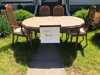 Dining table with cover and 4 chairs Meriden, 06450