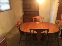 Wood dining set w 4 chairs and leaf Howell, 07731
