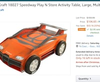 KidKraft Speedway Play and Store.  Pick Up Escondido