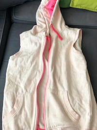 white and red zip-up hoodie Burnaby, V5C 3J8