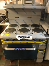 Imperial IR-6-E Commercial Electric Range 208 V, 1-Phase, 60 Hz, 17 kW