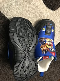 pairs of children's of blue-and-black Paw Patrol shoes size 5 Edmonton, T5W