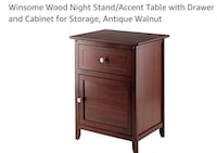 brown wooden 2-drawer nightstand Carson, 90745