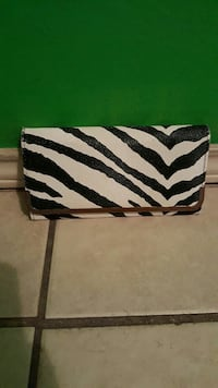 zebra print leather pouch Brownsville