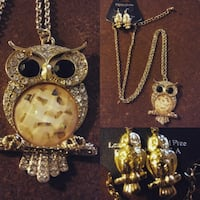 diamond encrusted gold-colored owl pendant chain n Browns Summit, 27214