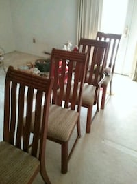 4 solid wood chairs  Alexandria