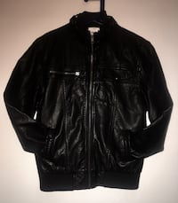 """Joe"" Youth size L/g 10-12 sleek looking leather jacket  Edmonton, T5Y 0L8"