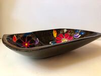 Floral, hand-painted, wooden bowl Katy, 77450