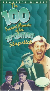 SLAPSTICK The 100 Funniest Moments 20th Century   vhs 1995 Readers Dig
