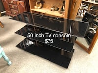 Glass TV console stand Miamisburg