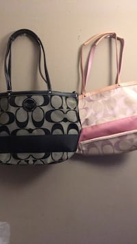 Monogrammed pink coach tote bag Capitol Heights, 20743