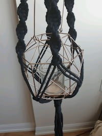Rose Gold Black Macrame Hanging Candle Holder Mississauga, L5V 1L6